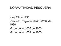 NORMATIVIDAD PESQUERA