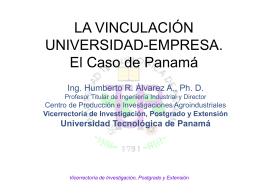 panama - Vicerrectoría de Investigación