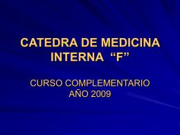 "Leucemia Linfática Crónica - Cátedra de Medicina Interna ""F"" UNLP"