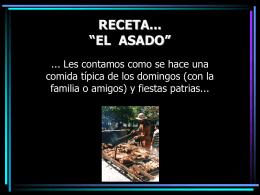 """RECETA... """"EL ASADO"""""""