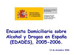 Encuesta Domiciliaria sobre Alcohol y Drogas en España (EDADES