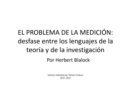 EL PROBLEMA DE LA MEDICIÓN