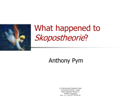 What happened to Skopostheorie?