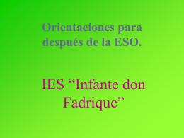 Bachillerato en el - IES Infante don Fadrique
