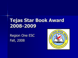 Tejas Star Book Award 2008-2009