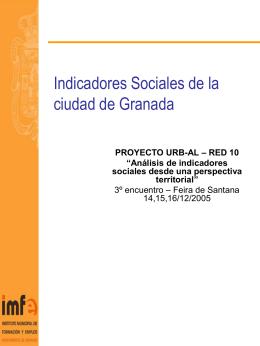 Análisis de indicadores sociales desde una perspectiva territorial