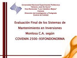Diapositiva 1 - UNEXPO-CONTROL-DE-LA-CALIDAD-OCT-2010