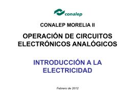 Introducción a la electricidad.