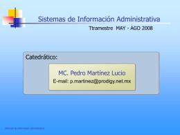 Capítulo 1. Introducción - Sistemas de Información Administrativa