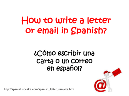 Examples of how to START a Spanish letter