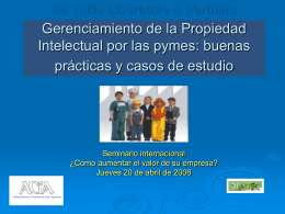 Gerenciamiento de la Propiedad Intelectual por las pymes
