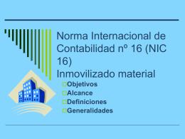 Norma Internacional de Contabilidad nº 16 (NIC