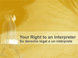 Your Right to an Interpretar