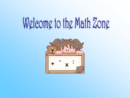 Welcome Math Zone