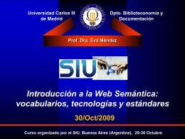 Introducción a la Web Semántica - Taller Virtual Red UNID / FrontPage