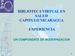 Apresentação BVS Nicarágua