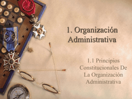 1. Organización Administrativa - Administracion