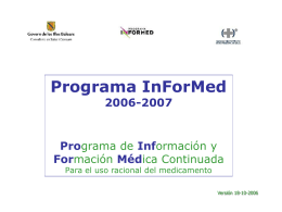 Presentación Power Point del Programa InForMed