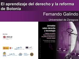 El aprendizaje del derecho y la reforma de Bolonia