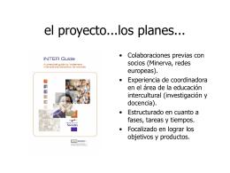 el proyecto...los planes