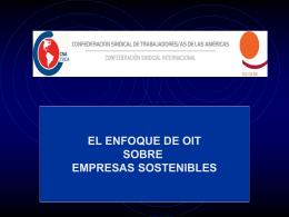 El enfoque de OIT sobre empresas sostenibles