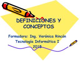 DEFINICIONES Y CONCEPTOS - Sites