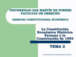 constitución de 1993 - Facultad de Derecho