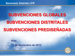 Subvenciones Globales - Rotary Club Palma Junípero Serra