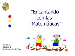 """""""Encantando con las matemáticas"""""""