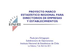 proyecto marco estadístico regional para directorios de empresas y