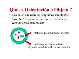 Qué es Orientación a Objeto ?