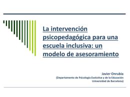 La intervención psicopedagógica para una escuela inclusiva