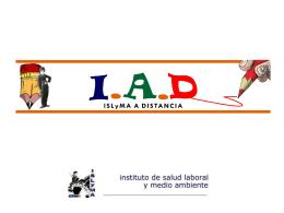 Programa IAD (ISLyMA a Distancia)