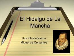 Intro a Cervantes
