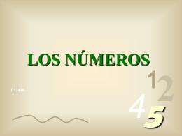 LOS NUMEROS - azucenasyazaleas