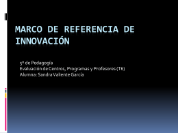 Marco de referencia de innovación