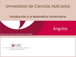 Ángulos - Universidad Peruana de Ciencias Aplicadas