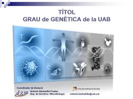 Diapositiva 1 - Universitat Autònoma de Barcelona