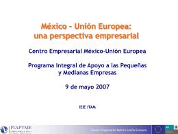 Presentación 9 mayo - Instituto de Estudios de la Integración Europea