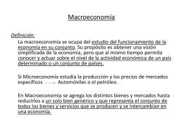 Macroeconomía - Apuntes de Ingeniería en Construcción