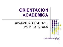 Orientación 4º ESO - IES Hipólito Ruiz López