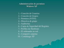 Administración de permisos Widows XP
