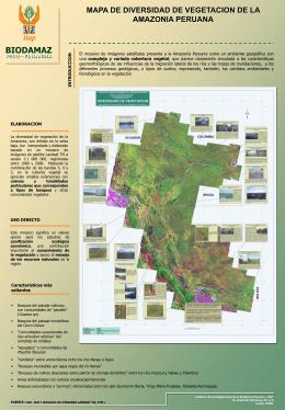 mapa de diversidad de vegetacion de la amazonia peruana
