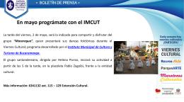Diapositiva 1 - Instituto Municipal de Cultura y Turismo