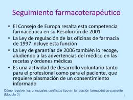 U3. Seguimiento farmacoterapéutico