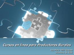 Cursos en línea para Productores Rurales