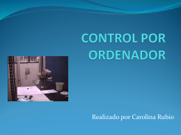 CONTROL POR ORDENADOR - JUANA