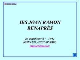 IES JOAN RAMON BENAPRÈS - Institut Joan Ramon Benaprès