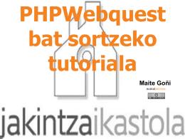 Diapositiva 1 - PHP Webquest