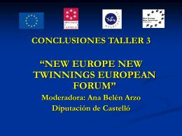 Conclusiones Taller 3 - Diputación de Castellón